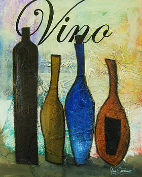 4 Bottles of Vino by Gino Savarino