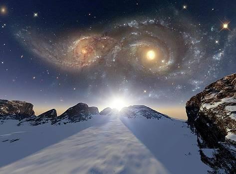 Colliding Galaxies by Detlev Van Ravenswaay