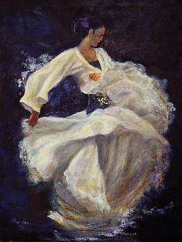 Flamenco in white by Sylva Zalmanson