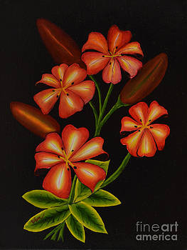 4 Lilies 3 Buds by Edward C Van Wicklen Sr