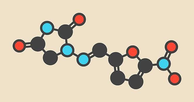 Nitrofurantoin Antibiotic Drug Molecule by Molekuul