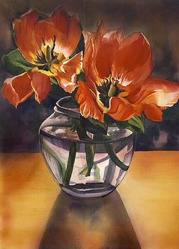 Alfred Ng - still life with tulips