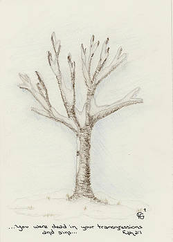 4 Trees-2nd Tree Winter by Christine Gibson