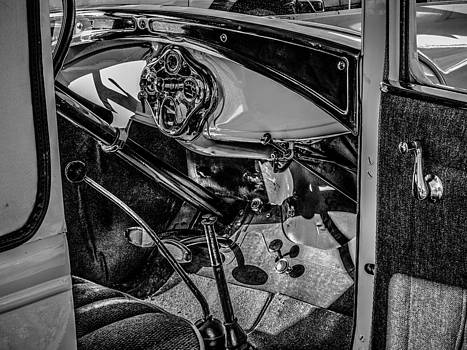 Ford Model A in Black and White by Steve Knievel