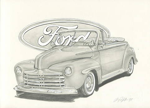 46 Convertible Ford by Raquel Ventura