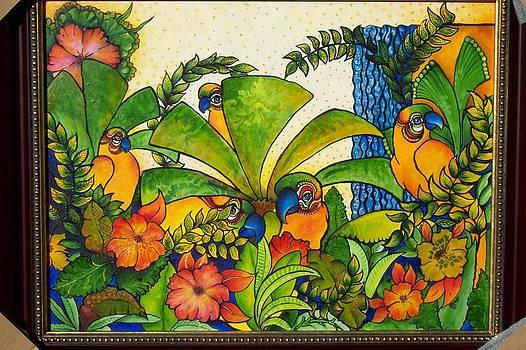 5 Parrots by Randi Evans
