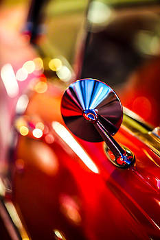 50's Red Chevy Bel Air rearview mirror by Shanna Gillette