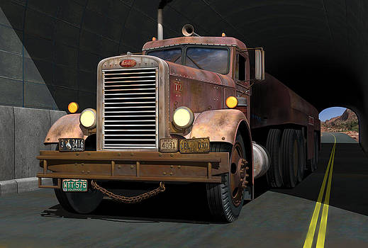 '55 Peterbilt Tunnel Scene by Stuart Swartz
