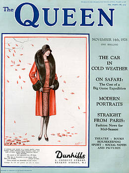 1920s Uk The Queen Magazine Cover by The Advertising Archives