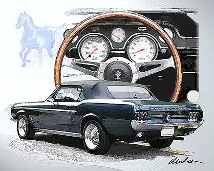'67 Mustang by Barry Cleveland