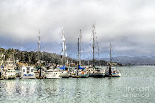 7 Boats In A Row by Matthew Hesser