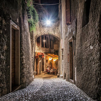 Night street by Dobromir Dobrinov