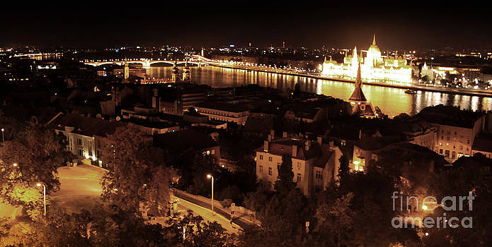Gregory Dyer - Budapest Hungary Night Panorama