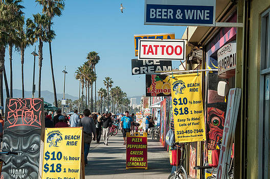 Venice Beach Boardwalk by Lee Roth