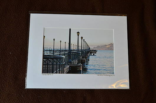 9x12 Matted - San Fanciso Pier-2 by Becky Anders