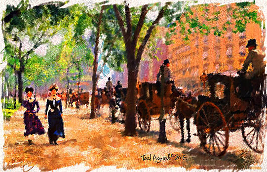 A 1890's Walk near Central Park by Ted Azriel