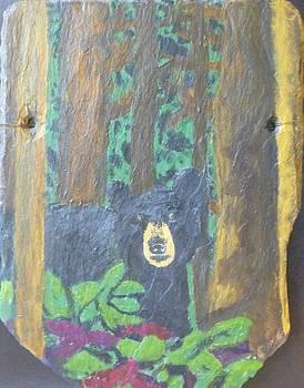 A Bear in the Woods by Lonzo Lucas Jr