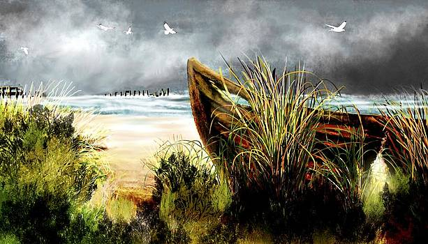Boat Wreck by Dlbt-art
