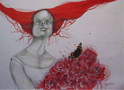 A Bunch Of Red Roses by Brigitte Hintner