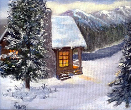 A Cabin In The Snow by Judie White