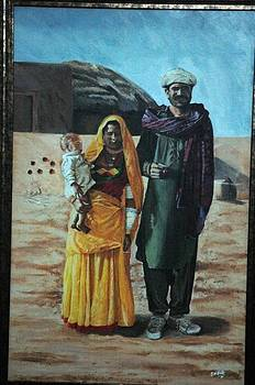 A Cholistani couple by Abdul Wahab