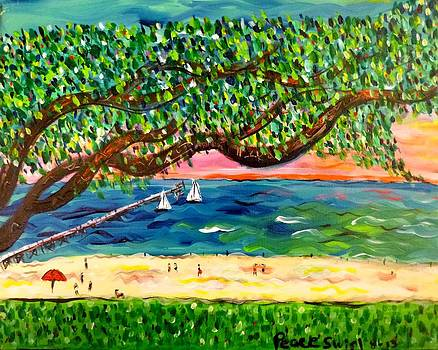 A Day on Mississippi Beach by Debora PeaceSwirl DAngelo