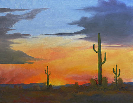 A Desert Sunset by Joe Prater
