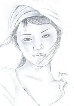 A girl by Foqia Zafar