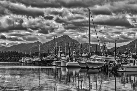 A gloomy day at the dock. by Timothy Latta