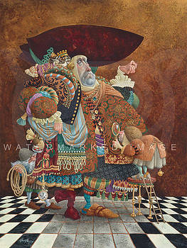 A Lawyer More Than Adequately Attired in Fine Print by James Christensen