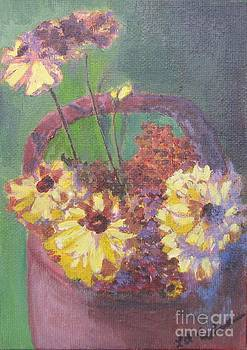 A Little Pot of Mums by Laurel Anderson-McCallum