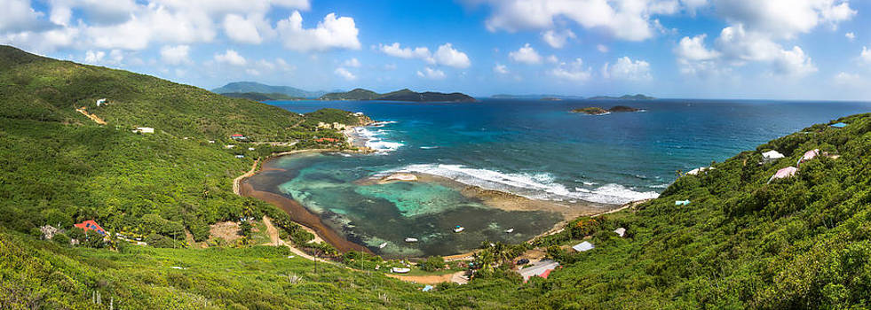 John's Folly Bay from Tradewinds Cottage in St. John USVI by Craig Bowman