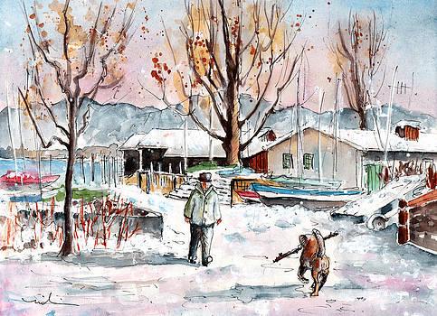 Miki De Goodaboom - A Man And His Dog On Lake Constance