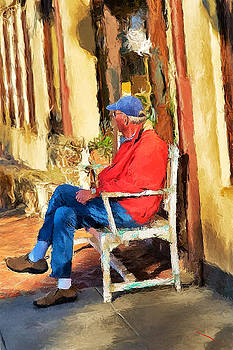 A Man With A Red Coat by SM Shahrokni