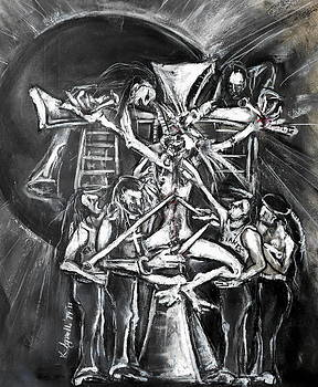 A Modern Crucifixion Before a Blackened Sun by Kenneth Agnello