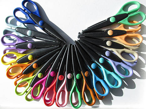 Alfred Ng - a rainbow of scissors
