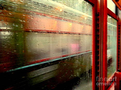 A Rainy Day Ride On The St. Charles Avenue Street Car In New Orleans Louisiana by Michael Hoard