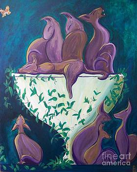 A Rather Elegant Cat Party by John Lyes