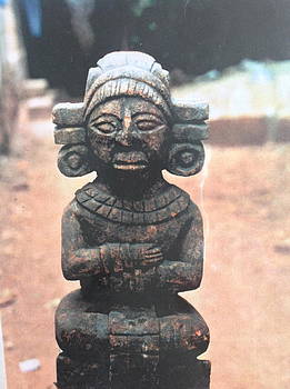 A religious Mayan figure by Yucatan artist
