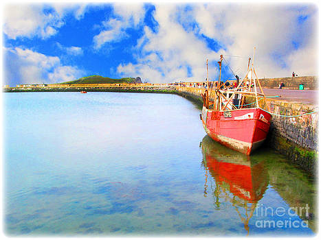 A Resting Boat Howth Ireland by Jo Collins