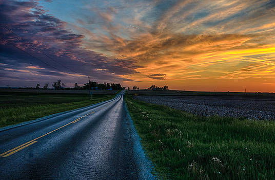 A Road to a Sunset by Christopher L Nelson