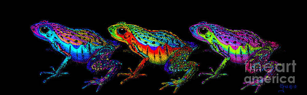 Nick Gustafson - A Row of Rainbow Frogs