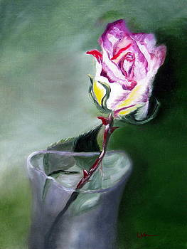 A Single Rose by LaVonne Hand