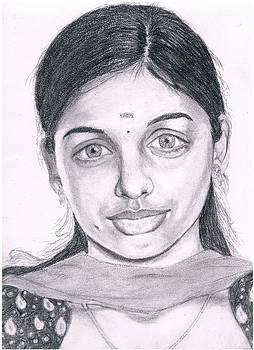 A south Indian girl by Bindu N