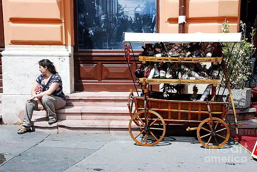 Joe Cashin - A street scene in Hungary