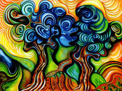 A Tribute To Van Gogh's Olive Trees by Gabriela  Taylor
