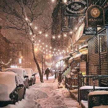 A View Looking Down 9th Street Tonight by Vivienne Gucwa