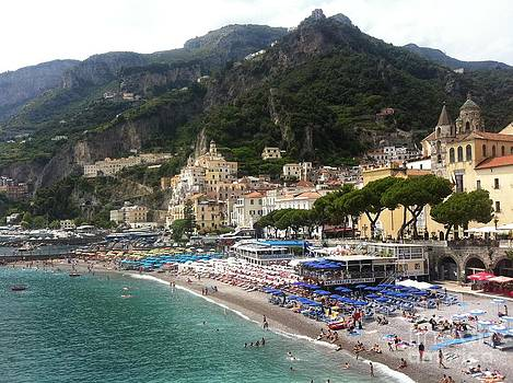 A View of Amalfi by H Hoffman
