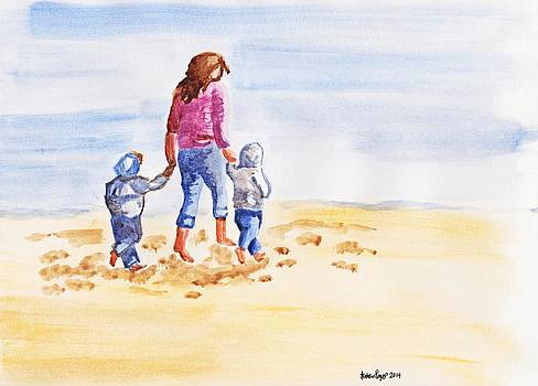 A Walk In The Sand by Natalie Rogers