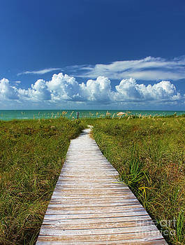 A Walk To The Beach On Sanibel by Jeff Breiman
